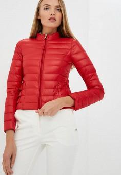 Пуховик, Patrizia Pepe, цвет: красный. Артикул: PA748EWBXSM9. Одежда / Верхняя одежда / Зимние куртки