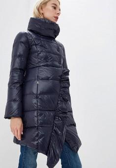 Пуховик, Patrizia Pepe, цвет: синий. Артикул: PA748EWCEHE9. Premium / Одежда / Верхняя одежда / Зимние куртки
