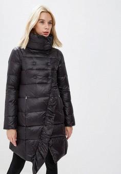 Пуховик, Patrizia Pepe, цвет: черный. Артикул: PA748EWCEHF0. Premium / Одежда / Верхняя одежда / Зимние куртки