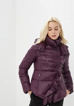 Пуховик, Patrizia Pepe, цвет: фиолетовый. Артикул: PA748EWCEHF3. Одежда / Верхняя одежда / Зимние куртки