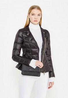 Пуховик, Patrizia Pepe, цвет: черный. Артикул: PA748EWTUR54. Одежда / Верхняя одежда / Пуховики и зимние куртки