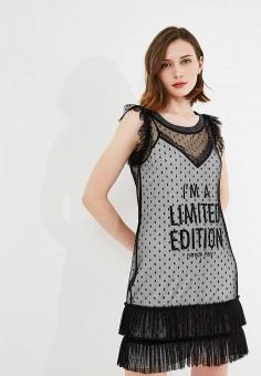 Платье, Patrizia Pepe, цвет: черный. Артикул: PA748EWYLJ50. Premium / Одежда / Платья и сарафаны
