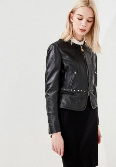 Куртка кожаная, Pennyblack, цвет: черный. Артикул: PE003EWAEDS5. Одежда / Верхняя одежда