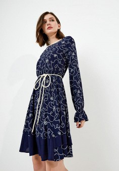 Платье, Pennyblack, цвет: синий. Артикул: PE003EWAEDT6. Premium / Одежда / Платья и сарафаны