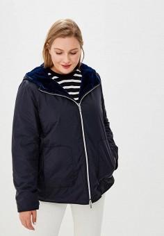 Куртка утепленная, Persona by Marina Rinaldi, цвет: синий. Артикул: PE025EWBZBR4. Одежда / Верхняя одежда / Демисезонные куртки