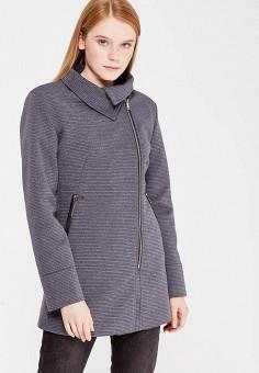 Пальто, Perfect J, цвет: серый. Артикул: PE033EWWEV81. Одежда / Верхняя одежда