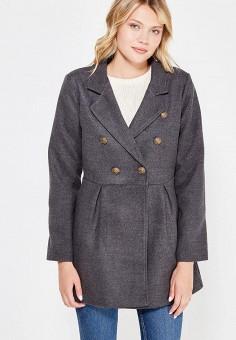 Пальто, Perfect J, цвет: серый. Артикул: PE033EWWEV86. Одежда / Верхняя одежда / Пальто
