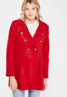 Пальто, Perfect J, цвет: красный. Артикул: PE033EWWEV88. Одежда / Верхняя одежда / Пальто