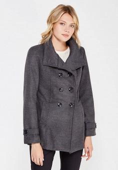 Полупальто, Perfect J, цвет: серый. Артикул: PE033EWWEV91. Одежда / Верхняя одежда / Пальто