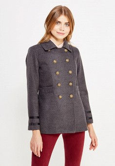 Полупальто, Perfect J, цвет: серый. Артикул: PE033EWWEV97. Одежда / Верхняя одежда