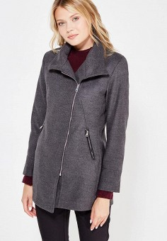 Полупальто, Perfect J, цвет: серый. Артикул: PE033EWWEW09. Одежда / Верхняя одежда / Пальто
