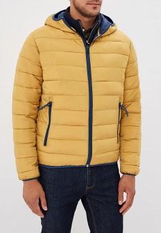 Куртка утепленная, Pepe Jeans, цвет: желтый. Артикул: PE299EMBNGZ0. Одежда / Верхняя одежда / Демисезонные куртки