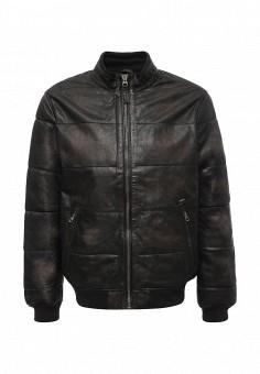 Куртка кожаная, Pepe Jeans, цвет: черный. Артикул: PE299EMTZX10. Одежда / Верхняя одежда / Кожаные куртки