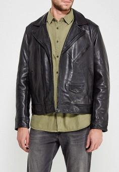 Куртка кожаная, Pepe Jeans, цвет: черный. Артикул: PE299EMZEV99. Одежда / Верхняя одежда / Кожаные куртки