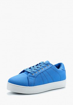 Кеды, Piazza Italia, цвет: голубой. Артикул: PI022AWAXWE2. Обувь / Кроссовки и кеды