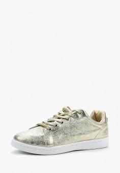Кеды, Piazza Italia, цвет: золотой. Артикул: PI022AWAXWF1. Обувь / Кроссовки и кеды / Кеды