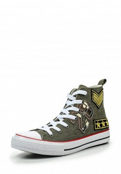 Кеды, Piazza Italia, цвет: хаки. Артикул: PI022AWQJO27. Обувь / Кроссовки и кеды