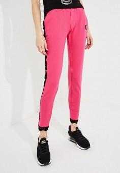 Брюки спортивные, Plein Sport, цвет  розовый. Артикул  PL007EWBUXL0. Спорт   c77c024b4a2