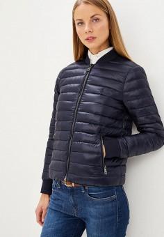 Пуховик, Polo Ralph Lauren, цвет: синий. Артикул: PO006EWBZDW2. Premium / Одежда / Верхняя одежда / Зимние куртки