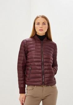 Куртка утепленная, Polo Ralph Lauren, цвет: бордовый. Артикул: PO006EWCAJQ1. Одежда / Верхняя одежда / Демисезонные куртки