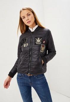 Пуховик, Polo Ralph Lauren, цвет: черный. Артикул: PO006EWCAJQ2. Одежда / Верхняя одежда / Пуховики и зимние куртки