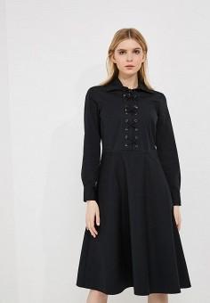 Платье, Polo Ralph Lauren, цвет: черный. Артикул: PO006EWYYW39. Premium / Одежда / Платья и сарафаны