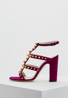 Босоножки, Pollini, цвет: фиолетовый. Артикул: PO756AWAEZK8. Premium / Обувь / Босоножки