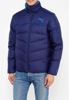 Пуховик, PUMA, цвет: синий. Артикул: PU053EMUTL73. Одежда / Верхняя одежда / Пуховики и зимние куртки