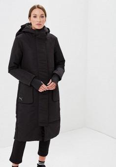 Куртка утепленная, PUMA, цвет: черный. Артикул: PU053EWCJMD7. Одежда / Верхняя одежда / Демисезонные куртки