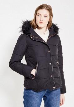 Куртка утепленная, QED London, цвет: черный. Артикул: QE001EWXZM02. Одежда / Верхняя одежда