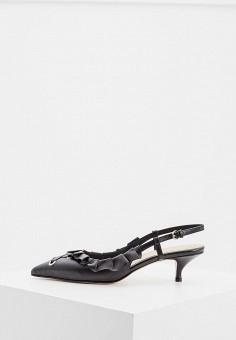 Туфли, Red Valentino, цвет  черный. Артикул  RE025AWBPTU8. Обувь   Туфли 28bab55afe6