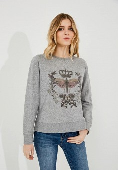 Свитшот, Red Valentino, цвет: серый. Артикул: RE025EWYPS57. Red Valentino