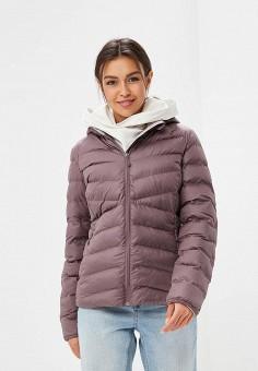 Куртка утепленная, Reebok, цвет: фиолетовый. Артикул: RE160EWCDNE1. Одежда / Верхняя одежда / Демисезонные куртки