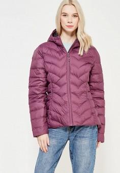 Пуховик, Reebok, цвет: фиолетовый. Артикул: RE160EWYAJ32. Одежда / Верхняя одежда / Пуховики и зимние куртки