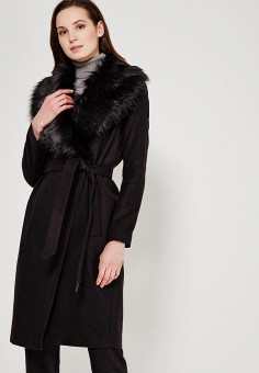 Пальто, River Island, цвет: черный. Артикул: RI004EWZGI73. Одежда / Верхняя одежда