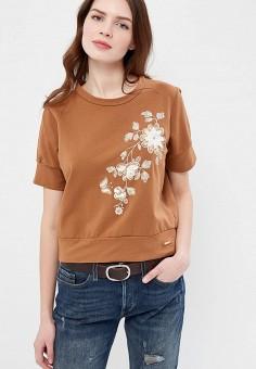 Свитшот, Rinascimento, цвет: коричневый. Артикул: RI005EWANKN8. Одежда / Толстовки и свитшоты