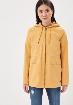 Куртка, Roxy, цвет: желтый. Артикул: RO165EWAKDW8. Одежда / Верхняя одежда / Легкие куртки и ветровки