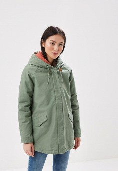 Парка, Roxy, цвет: зеленый. Артикул: RO165EWAKDX6. Одежда / Верхняя одежда / Парки