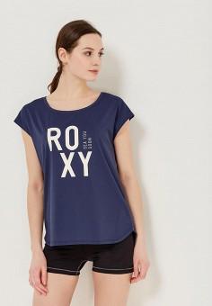 fd068cc9e9bb Футболка спортивная, Roxy, цвет  синий. Артикул  RO165EWAKEB6. Спорт    Фитнес