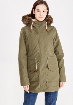 Парка, Roxy, цвет: зеленый. Артикул: RO165EWVOH33. Одежда / Верхняя одежда / Парки