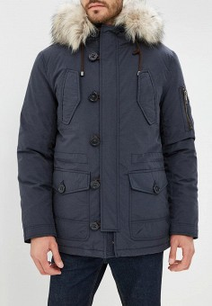 Пуховик, Savage, цвет: синий. Артикул: SA004EMCNDN5. Одежда / Верхняя одежда / Пуховики и зимние куртки