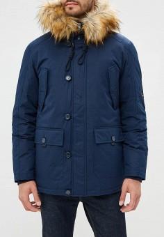 Пуховик, Savage, цвет: синий. Артикул: SA004EMCNDN6. Одежда / Верхняя одежда / Пуховики и зимние куртки