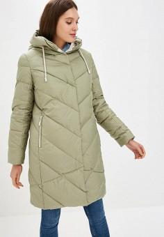 Пуховик, Savage, цвет: зеленый. Артикул: SA004EWCMVB4. Одежда / Верхняя одежда / Зимние куртки