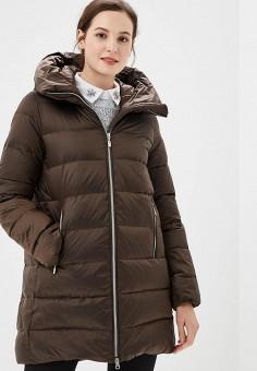 Пуховик, Savage, цвет: коричневый. Артикул: SA004EWCMVB7. Одежда / Верхняя одежда / Зимние куртки