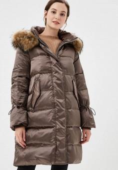 Пуховик, Savage, цвет: коричневый. Артикул: SA004EWCMXV0. Одежда / Верхняя одежда