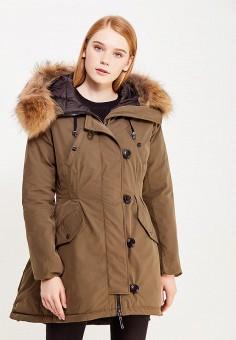 Пуховик, Savage, цвет: коричневый. Артикул: SA004EWVJX00. Одежда / Верхняя одежда