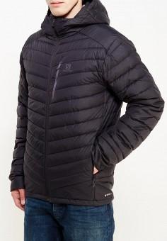 Пуховик, Salomon, цвет: черный. Артикул: SA007EMUHK02. Одежда / Верхняя одежда / Пуховики и зимние куртки