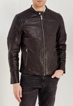 Куртка кожаная, Selected Homme, цвет: черный. Артикул: SE392EMAFUK0. Одежда / Верхняя одежда / Кожаные куртки