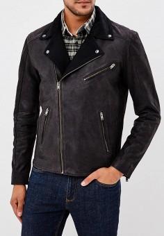 Куртка кожаная, Selected Homme, цвет: черный. Артикул: SE392EMBXVD0. Одежда / Верхняя одежда / Кожаные куртки