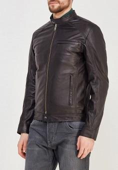 Куртка кожаная, Selected Homme, цвет: черный. Артикул: SE392EMZBH52. Одежда / Верхняя одежда / Кожаные куртки
